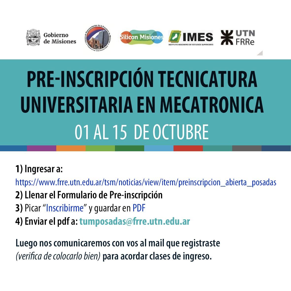 LANZARON LA TECNICATURA UNIVERSITARIA EN MECATRÓNICA